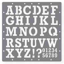 Alphabet And Number Template