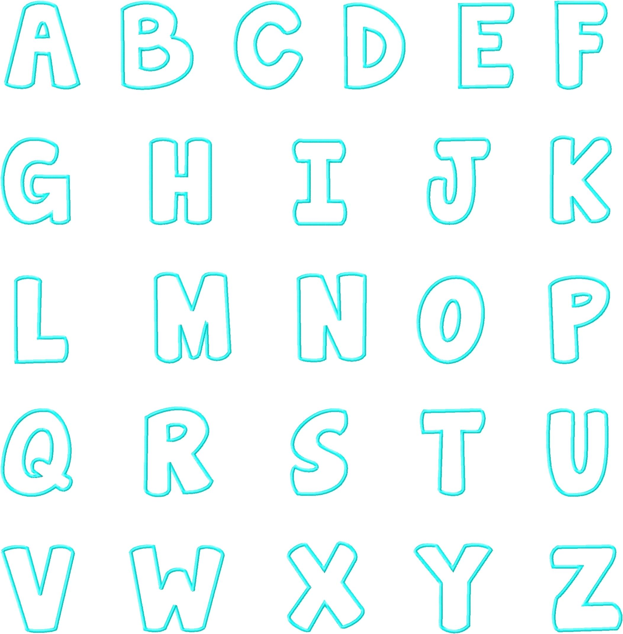 Alphabet-Template-For-Banner Printable Letters To Trace Template on lower case alphabet, uppercase alphabet, lower case, small size alphabet, fancy alphabet,