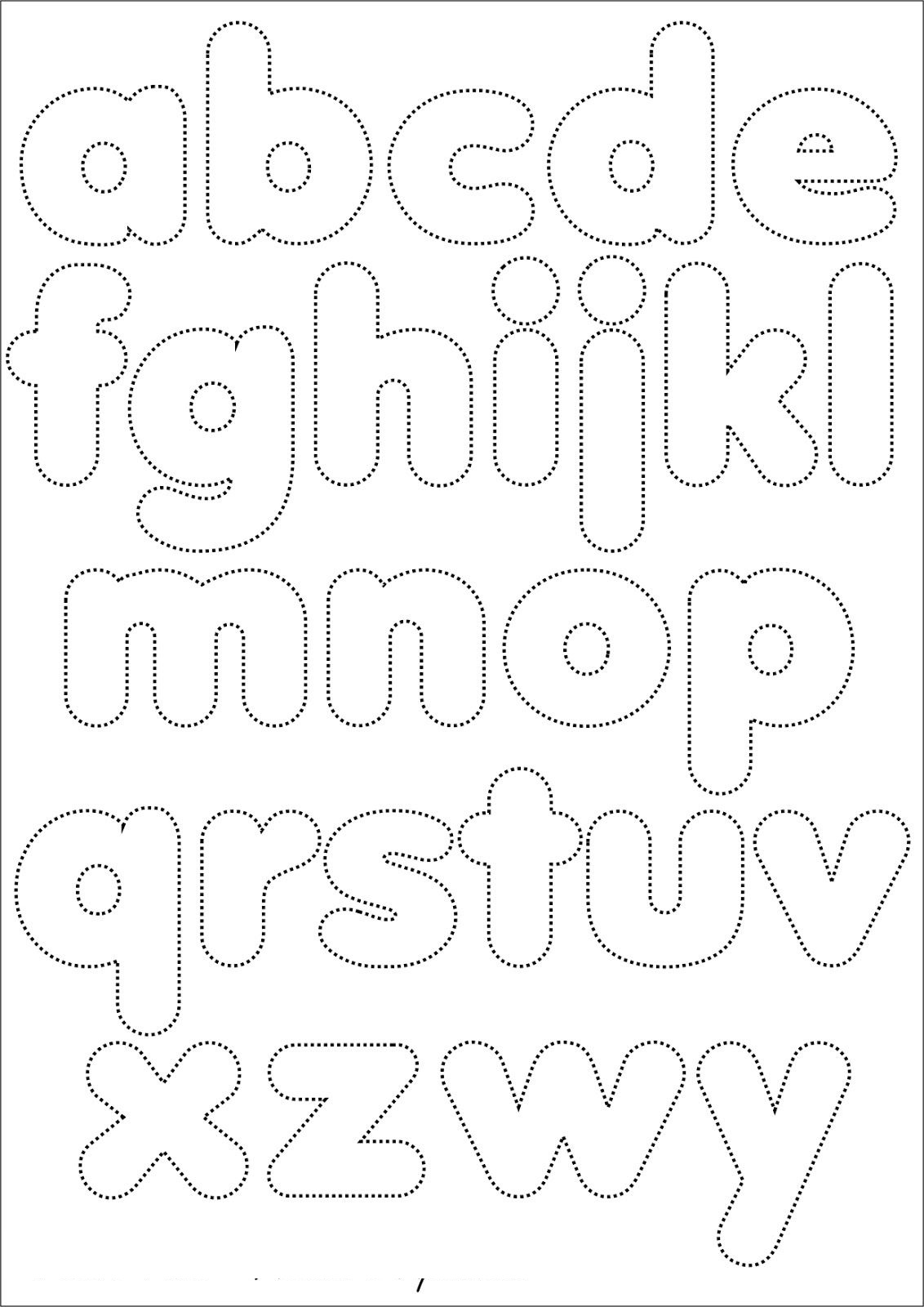 Alphabet Template For Quilting