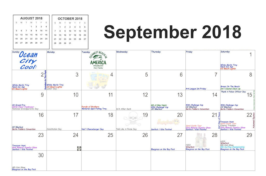 Astrological September 2018 Moon Calendar