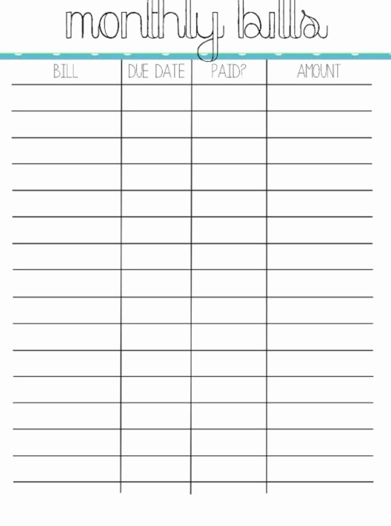 Budget Expenses Worksheet