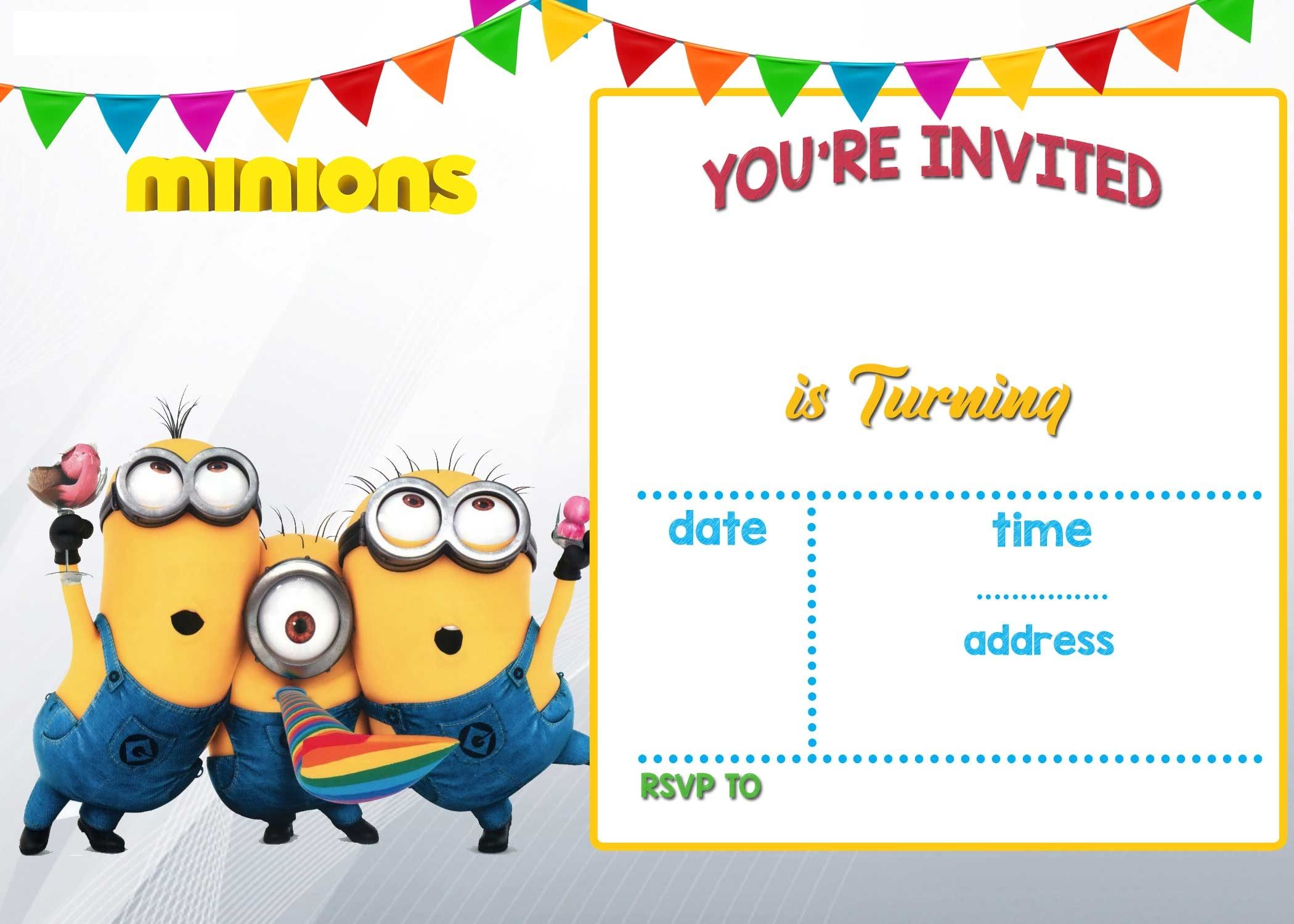 Cartoon Invitation PPT Template