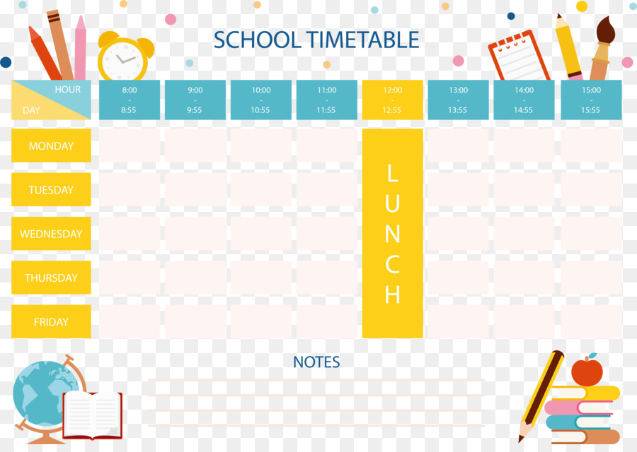 Daily Time Table Template