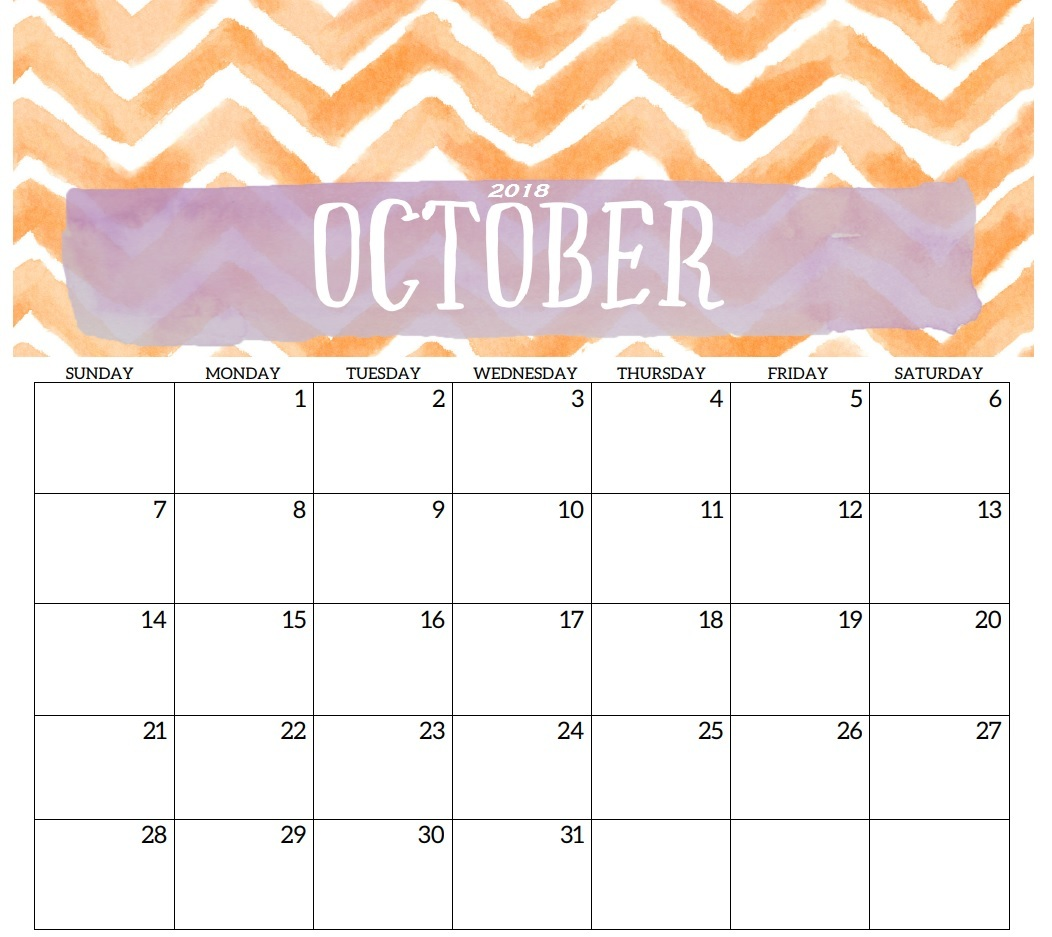 graphic regarding Free Printable Calendars October known as Cost-free Printable Calendar Oct 2018 Lovable - Obtain Absolutely free