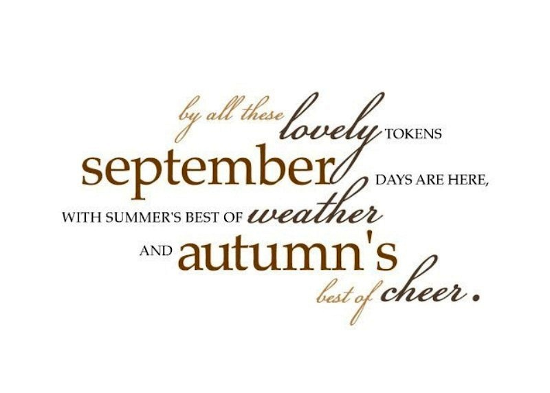 Free Welcome September Quotes Download