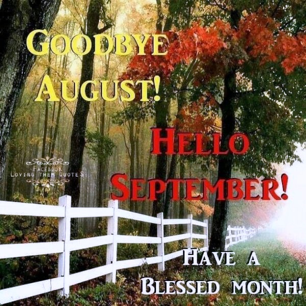 Goodbye August Hello September Images Facebook