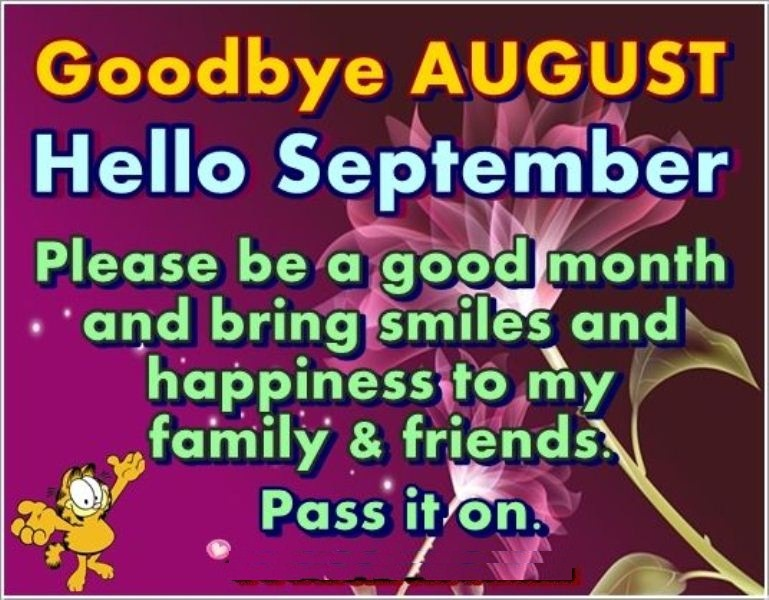 Goodbye August Hello September Images, Quotes
