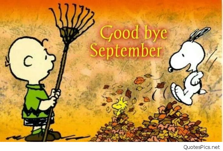 Goodbye September Hello October Images Funny