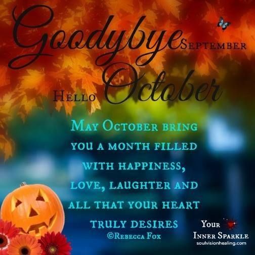 Goodbye September Hello October Pictures Quotes
