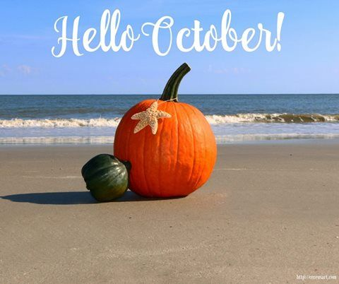 Hello October Beach Images