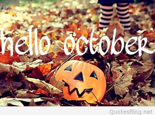 Hello October Images With Pumpkin