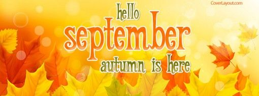 Hello September Autumn is Here Facebook Cover