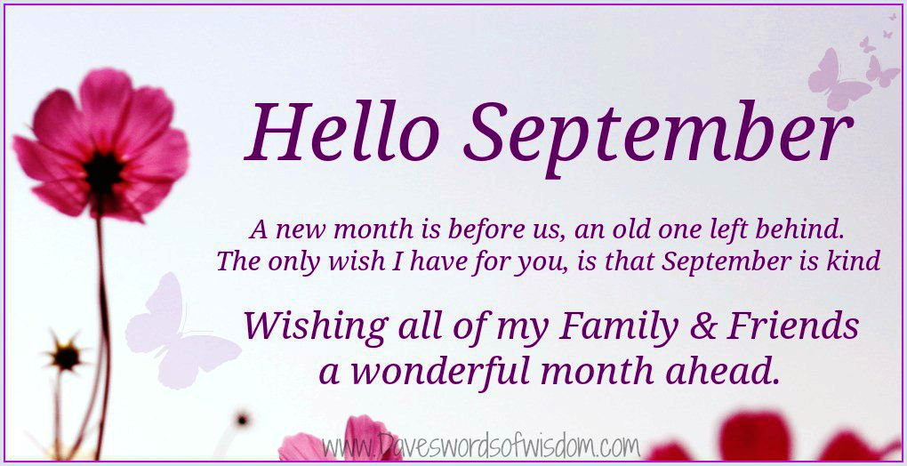 Hello September Images Quotes