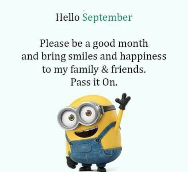 Hello September Quotes Funny