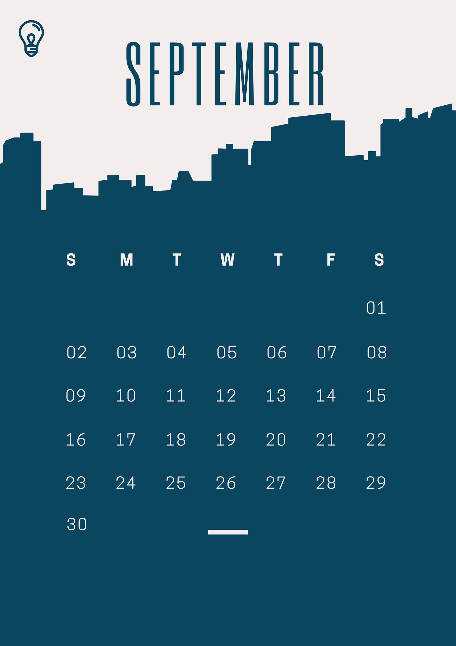 Latest September 2018 iPhone Calendar