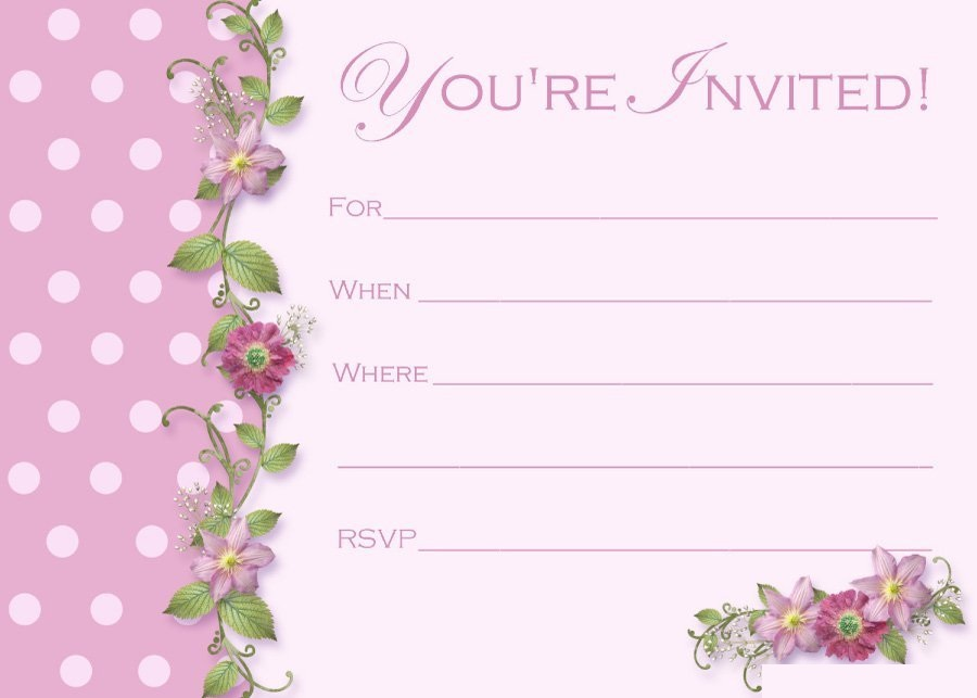 Printable Simple And Elegant Invitation Template