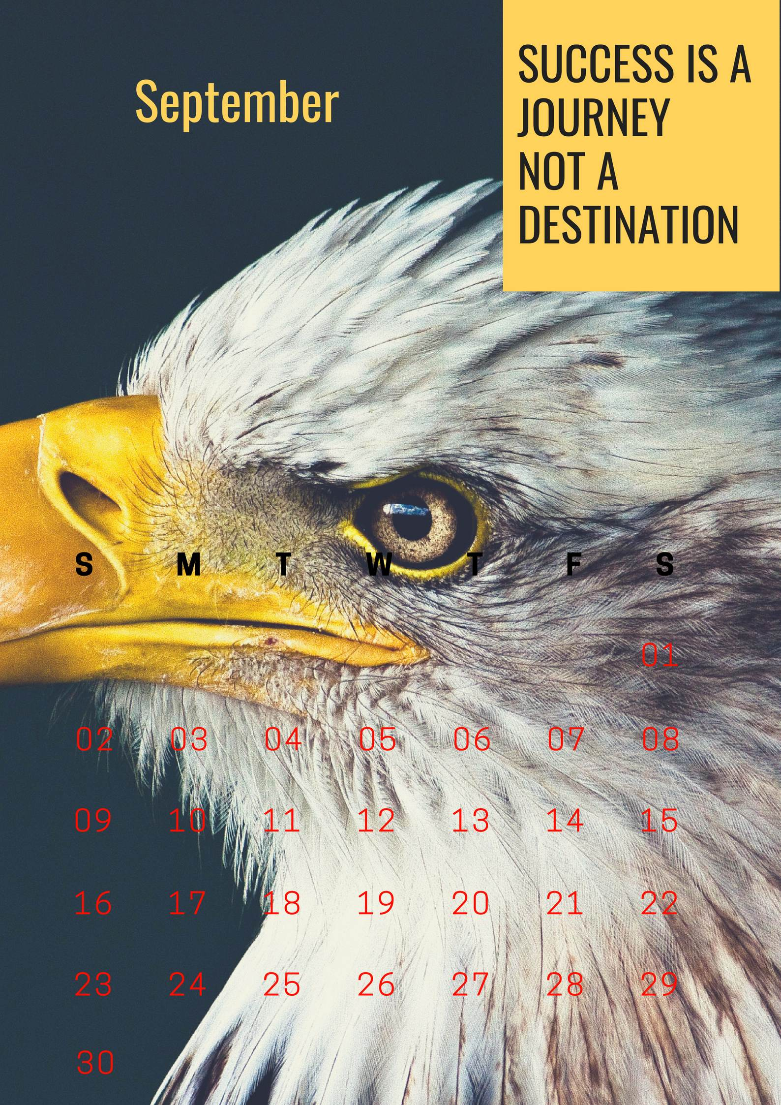 September 2018 HD Motivation Calendar