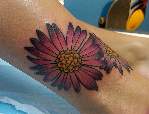 September Birth Flower Tattoo