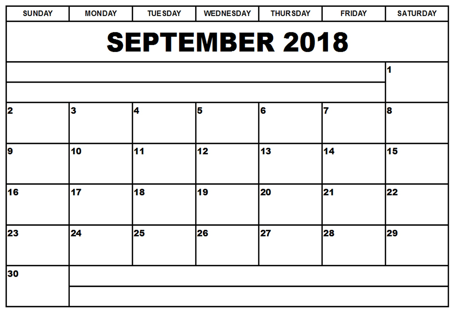 September Calendar 2018 Harper College