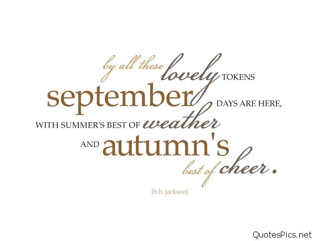 September Images and Quotes