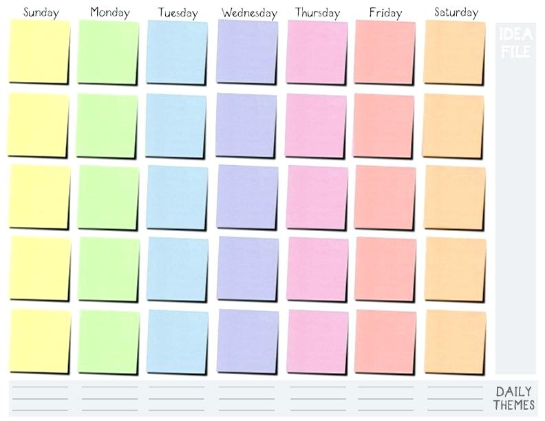 Time Table Boxes Template Online