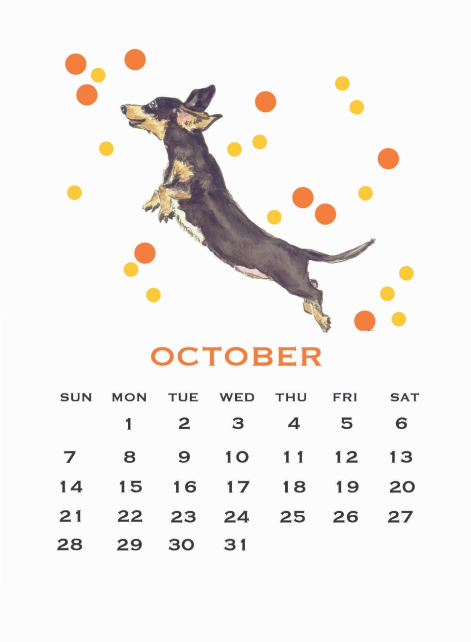 Unique October 2018 Vector Art Calendar