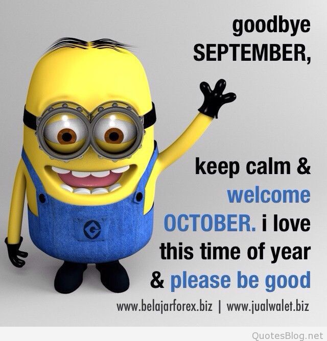 Welcome October Funny Quotes