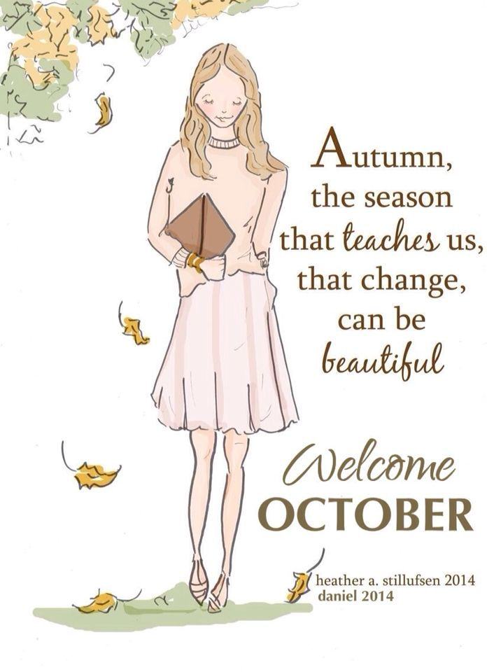 Welcome October Quotes Messages