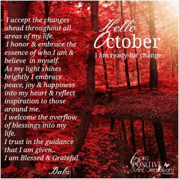 Welcome October Quotes Motivational Images