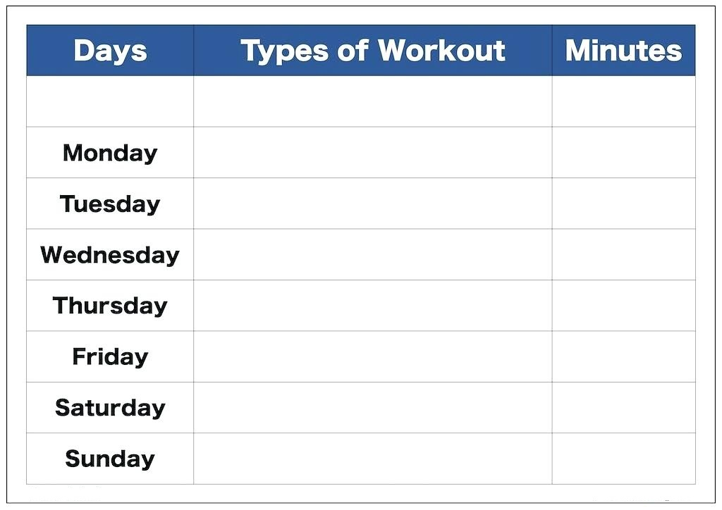 Work Out Time Table Template For Studying