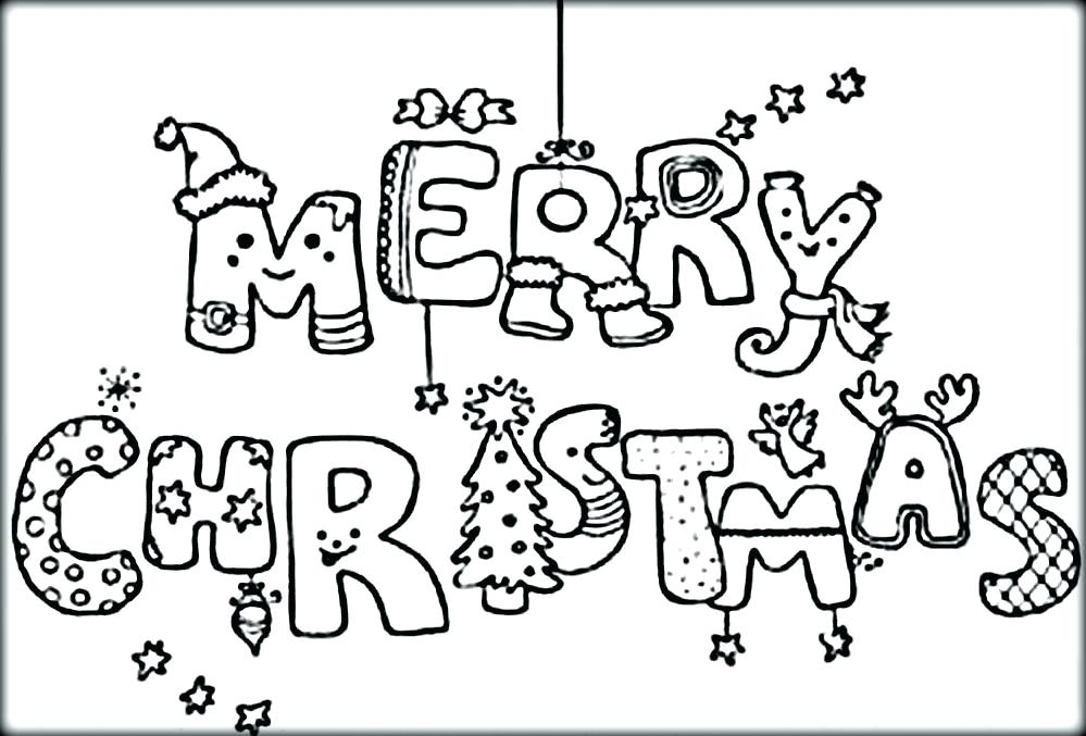 Coloring Pages for Merry Christmas
