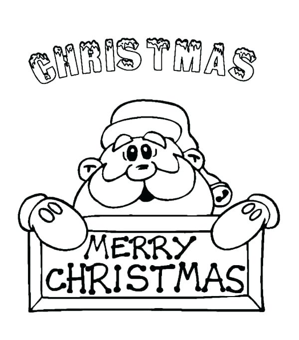 Cute Merry Christmas Coloring Pages
