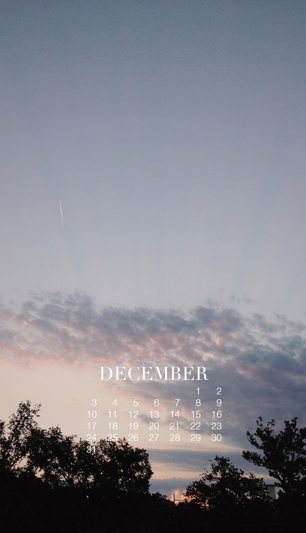 Dec 2018 HD Phone Calendar