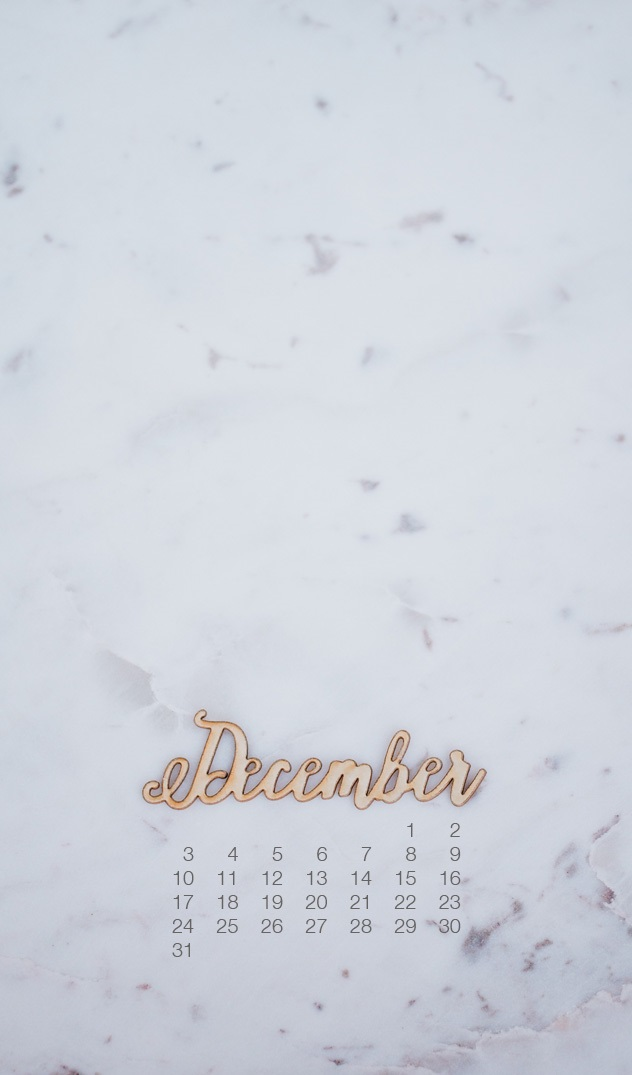 December 2018 Mobile Background Calendar