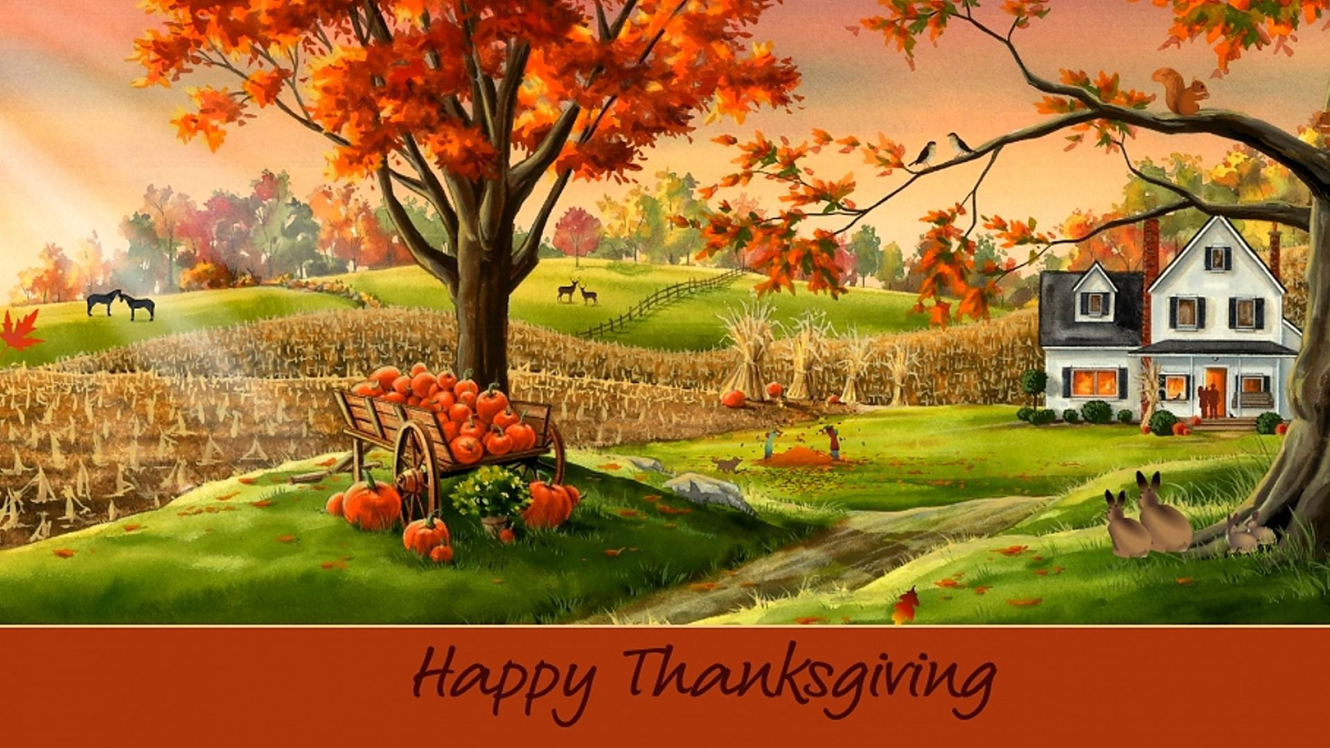 Happy Thanksgiving HD Wallpaper
