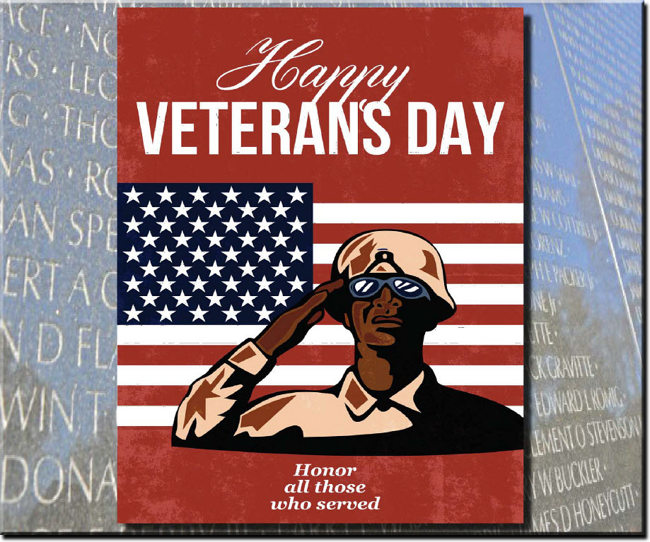 Happy Veterans Day Images Card Design