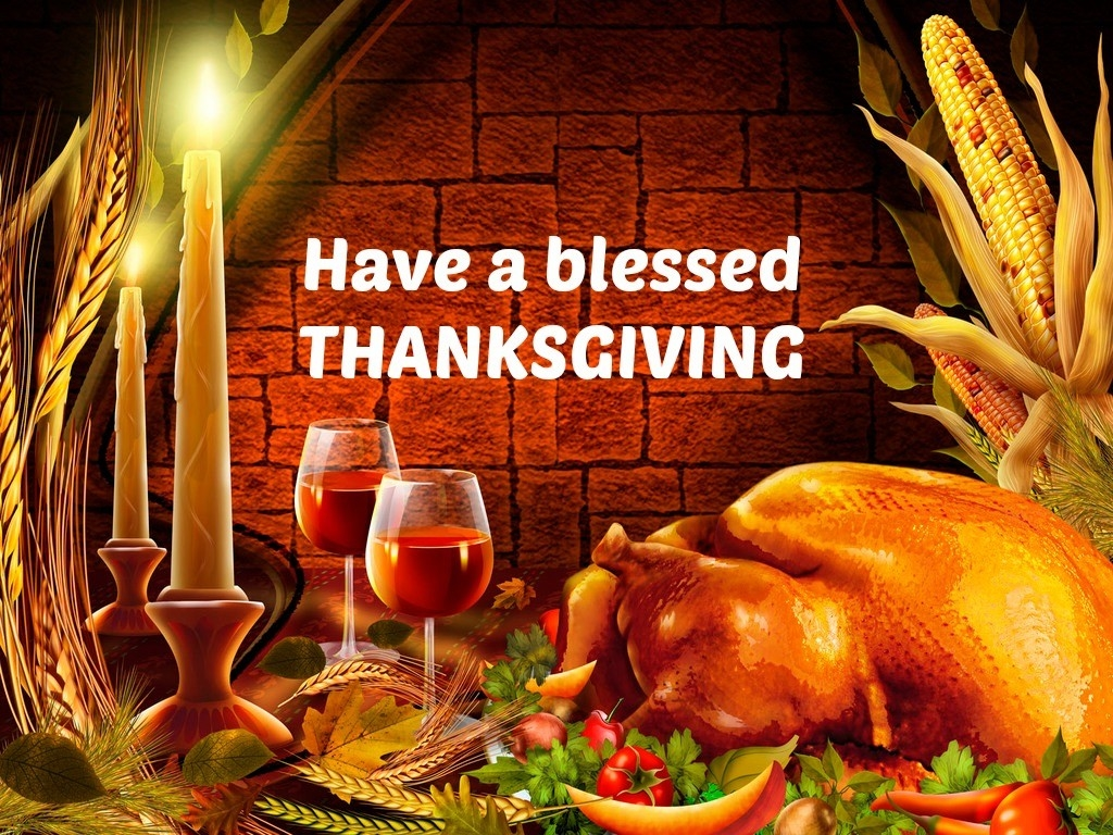 Have A Blessed Thanksgiving Blessings Card