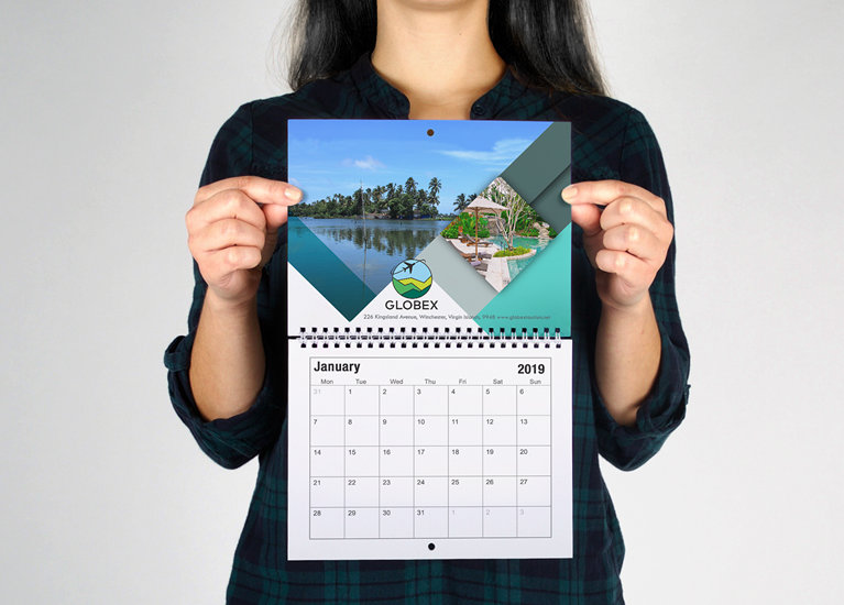 January 2019 Personalized Wall Calendar