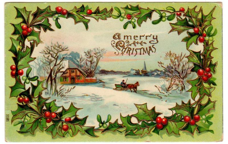 Merry Christmas Cards With Horse
