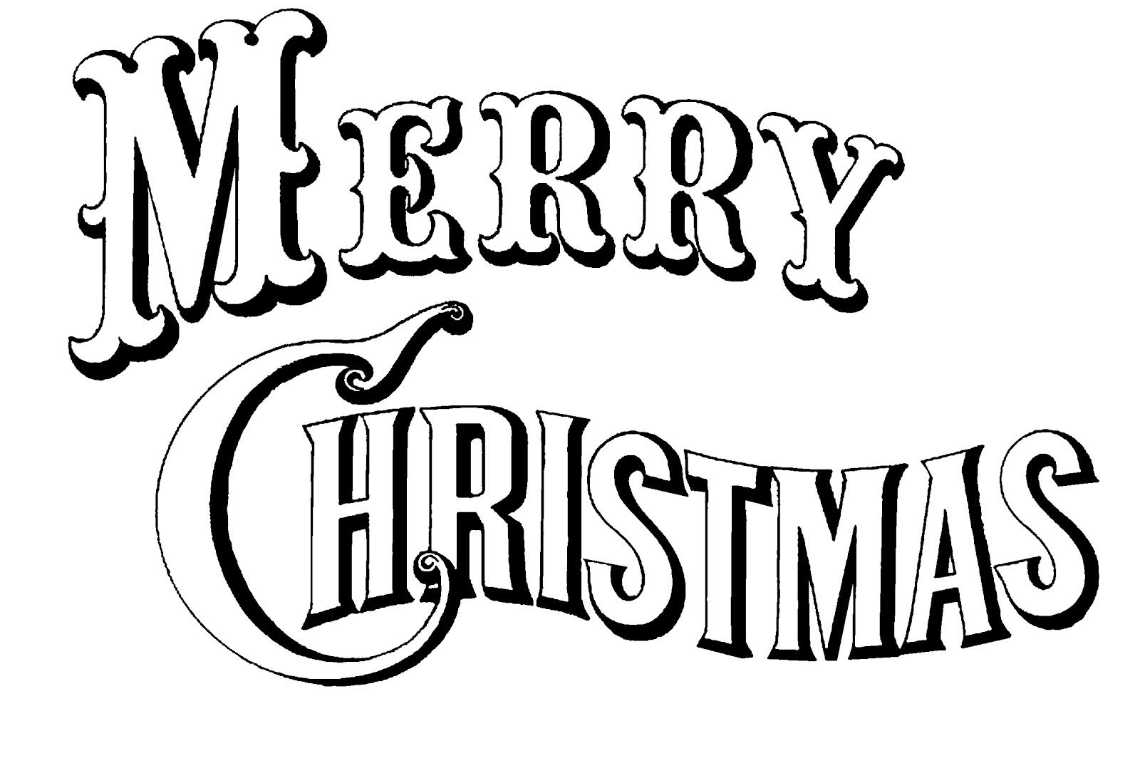 Merry Christmas Clipart to Print