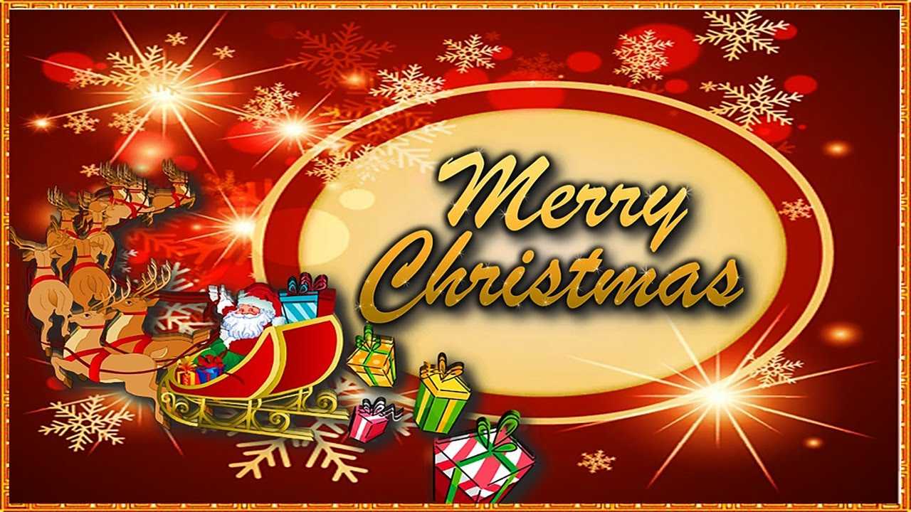 Merry Christmas Greetings Card Design