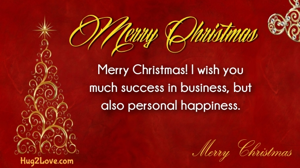 Merry Christmas Greetings for Boss