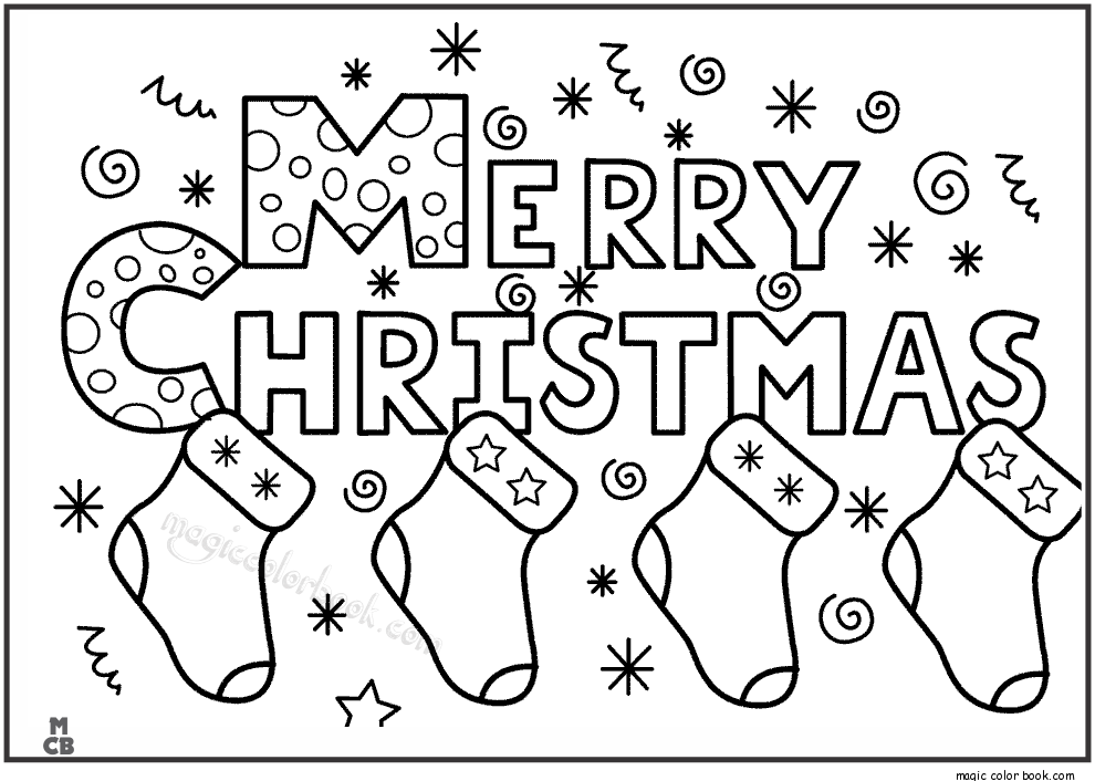 Merry Christmas Pictures to Color