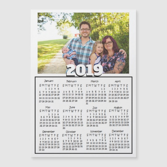 Personalized 2019 January Calendar