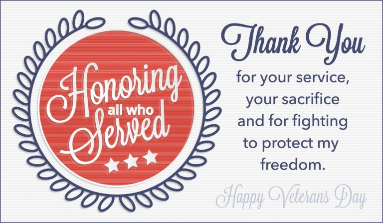 Thank You Veterans Day Quotes 2018