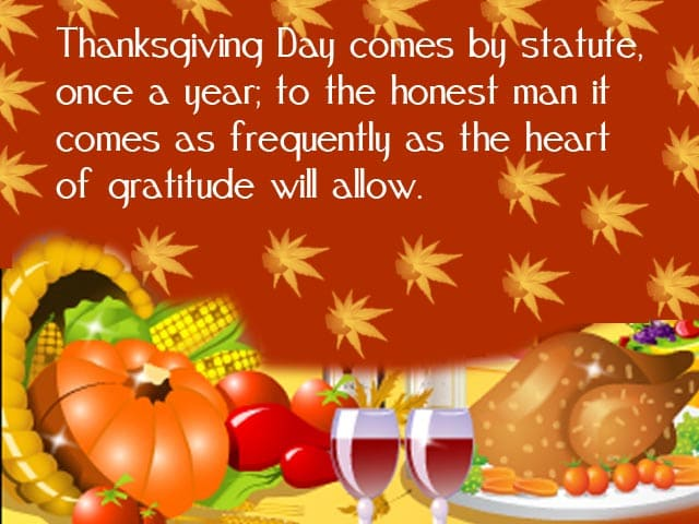 Thanksgiving Day Messages 2018 Images