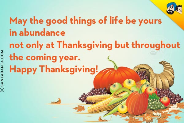 Thanksgiving SMS to God