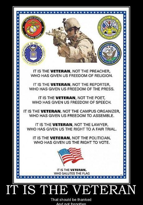 Veterans Day Clipart Message Poem