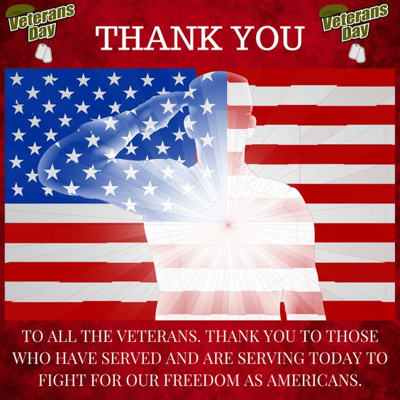 Veterans Day Thank You Clipart USA