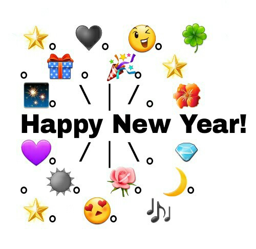 Emoji For Happy New Year 2019